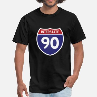Interstate I-90 - Men's T-Shirt