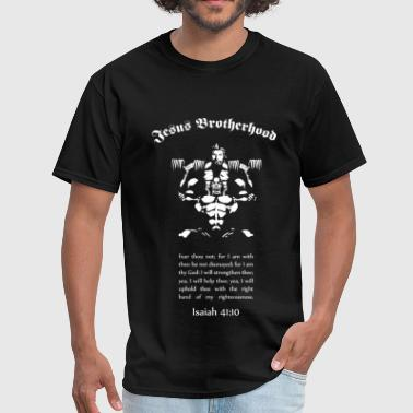 Jesus Lifting Jesus Brotherhood T  Front Only - Men's T-Shirt