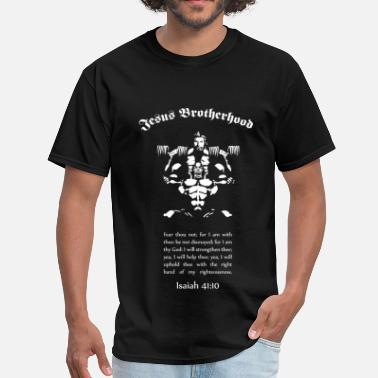 Body Building Jesus Brotherhood T  Front Only - Men's T-Shirt
