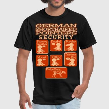 Shorthaired German Shorthaired Pointer Dog Security Pets Funny - Men's T-Shirt