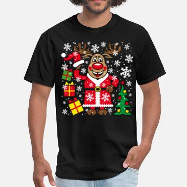 Team Santa Claus For Christmas 76 Deer Reindeer Rudolph Christmas Santa Claus - Men's T-Shirt