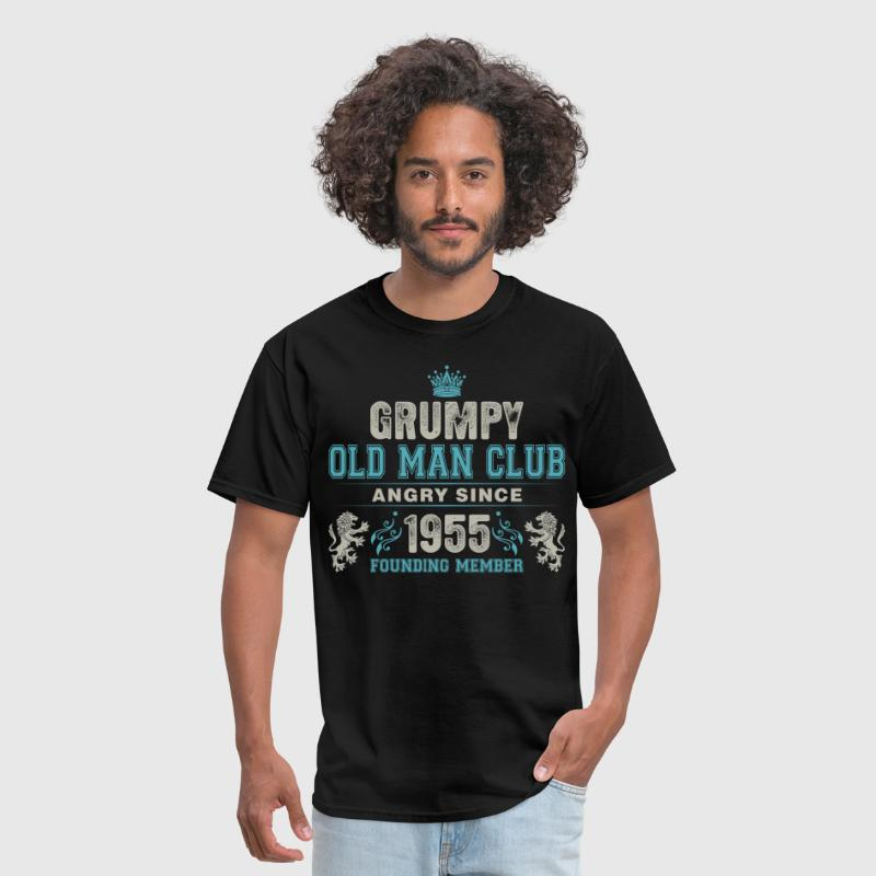 Grumpy Old Man Club Since 1955 Founder Member Tees - Men's T-Shirt