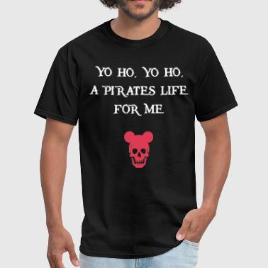 Kids Caribbean Pirates Of The Caribbean Black Tank Yo Ho A Pirate - Men's T-Shirt