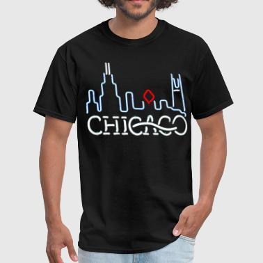 Cute Chicago Neon Chicago Sign - Men's T-Shirt