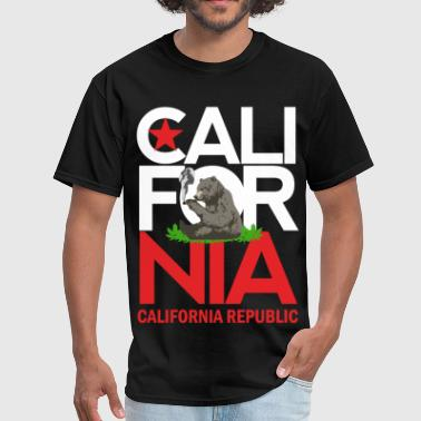 Califonia Bear Weed Smoking - Men's T-Shirt