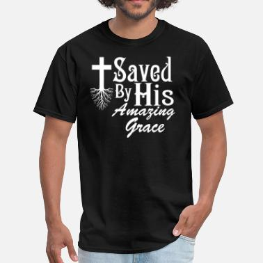 Sufficient saved by his grace - Men's T-Shirt