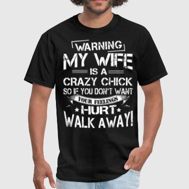 Difficult warning my wife mom - Men's T-Shirt