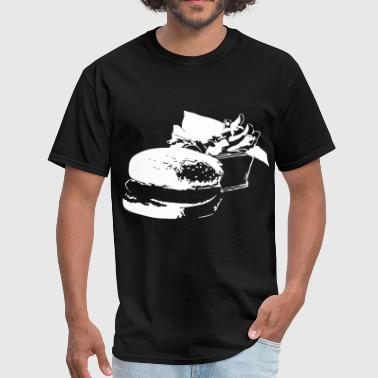 burger and fries - Men's T-Shirt