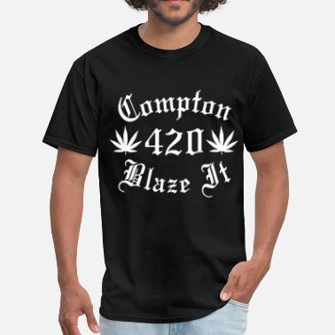 Compton Kllass Compton 420 Blaze It Men s trucker T Shirts - Men's T-Shirt