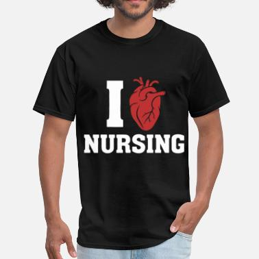 Nurse Love i love nurseing nurse - Men's T-Shirt