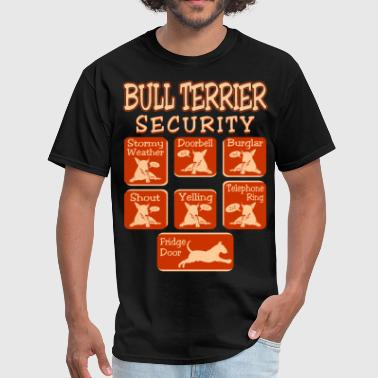 Bull Terrier Dog Security Pets Love Funny Tshirt - Men's T-Shirt