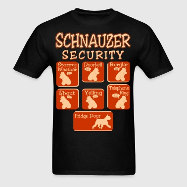 Schnauzer Dog Security Pets Love Funny Tshirt - Men's T-Shirt