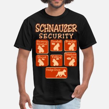 e62eec95 Schnauzer Dog Security Pets Love Funny Tshirt - Men's ...