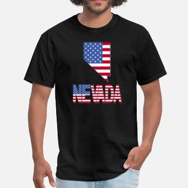 Nevada Flag Nevada Map Flag - Men's T-Shirt