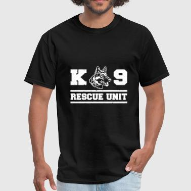 Rescue Shepherd K9 Unit T Shirt Rescue Dog T Shirt German Shepherd - Men's T-Shirt