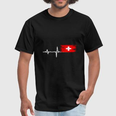 Lugano Heartbeat Switzerland gift - Men's T-Shirt