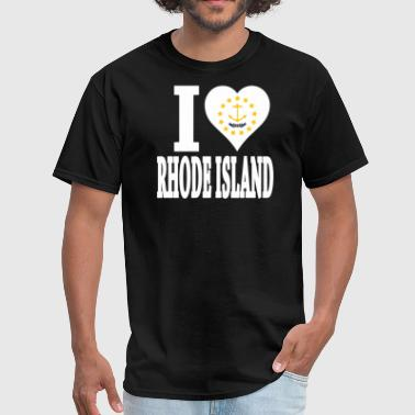 I LOVE RHODE ISLAND - Men's T-Shirt