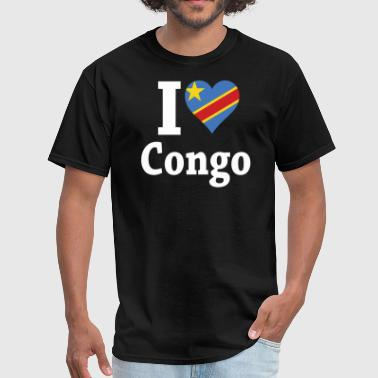 I Love Congo Flag - Men's T-Shirt