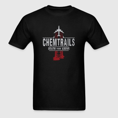 Jet Chemtrails Red & Grey Logo - Men's T-Shirt