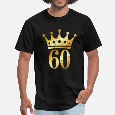 Gold 60th Birthday & Anniversary Crown (Vintage Gold) - Men's T-Shirt