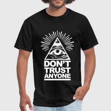 Illuminati Hip Hop DON'T TRUST ANYONE - Men's T-Shirt