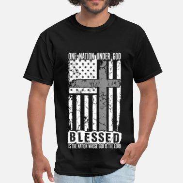 Superman Logo Christianity Christian - Under god blessed, god is the lord - Men's T-Shirt