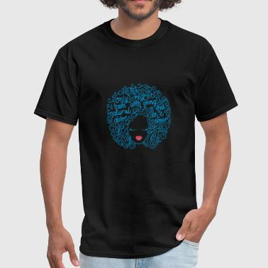 Proud Natural Hair Black Girl - Men's T-Shirt