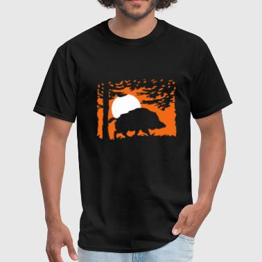 wildboar_in_the_night - Men's T-Shirt