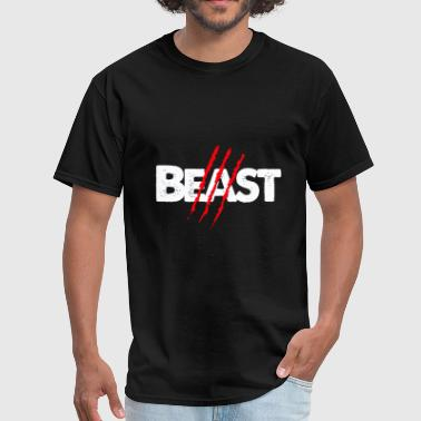 Couples - beast scratch beauty lips couples | hi - Men's T-Shirt