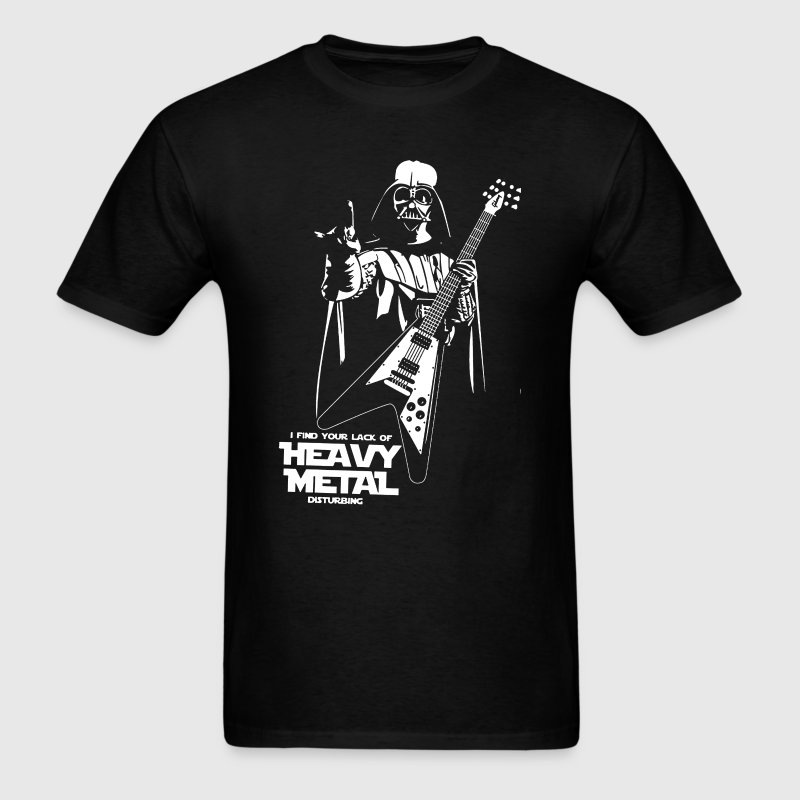 Funny Darth Vader Heavy Metal - Men's T-Shirt