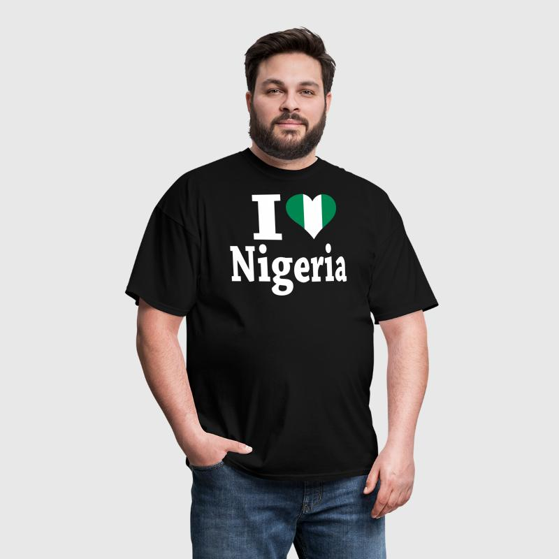 I Love Nigeria Flag - Men's T-Shirt