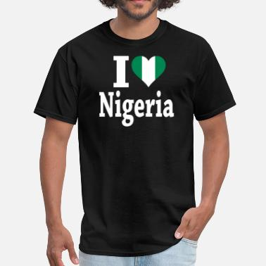 I Love Nigeria I Love Nigeria Flag - Men's T-Shirt