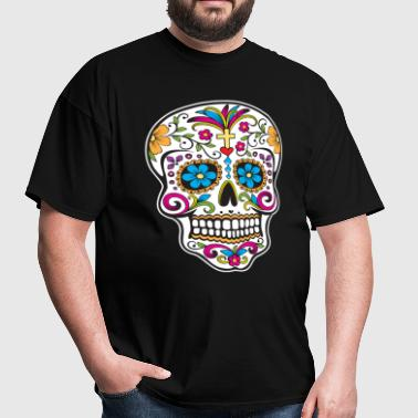 sugar_skull_colored - Men's T-Shirt