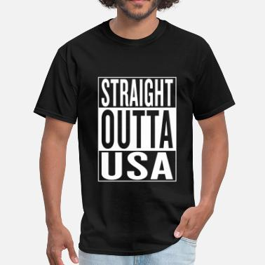 Usa Rap straight outta USA - Men's T-Shirt