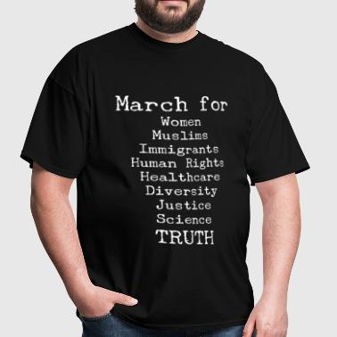March For Truth Anti-Trump - Men's T-Shirt