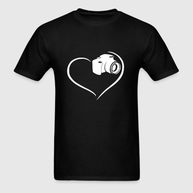 Photographer Heart Shirt - Men's T-Shirt