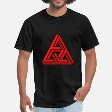 3d Illusion 3D illusion red - Men's T-Shirt