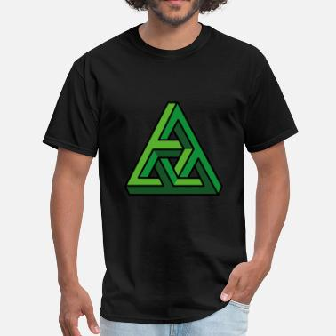 3d Illusion 3D illusion green - Men's T-Shirt