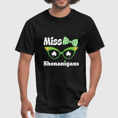St patricks day - miss shenanigans st. patrick's - Men's T-Shirt