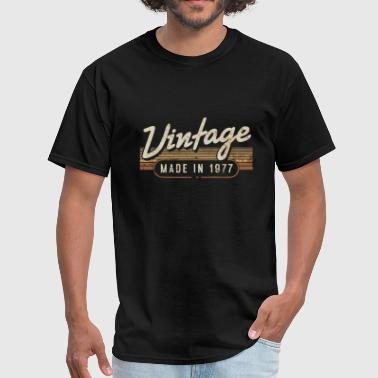 Birthday - vintage made in 1977 - funny 40th bi - Men's T-Shirt