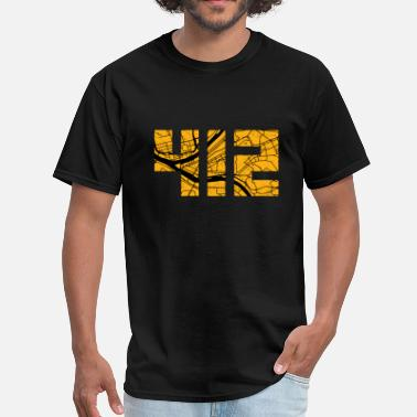 412 Pittsburgh 412 Map - Men's T-Shirt