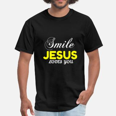 Smile Jesus Loves You SMILE JESUS LOVES YOU - Men's T-Shirt