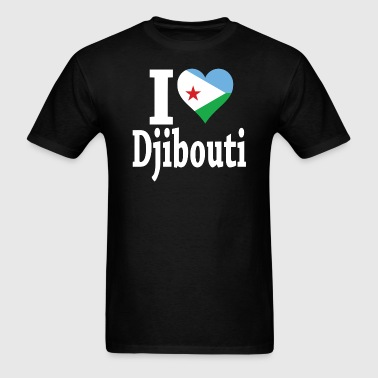 I Love Djibouti Flag - Men's T-Shirt