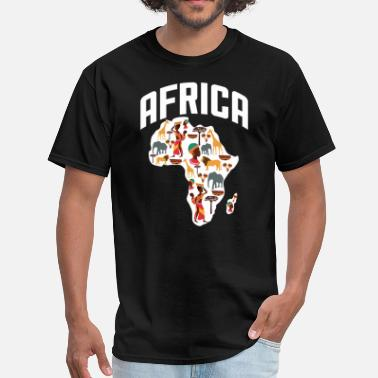 Africa Map Designs Africa Heritage - Men's T-Shirt