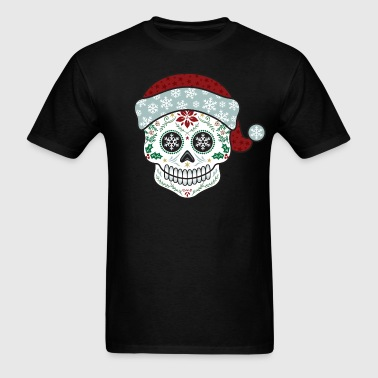 Sugar Skull Santa - Men's T-Shirt