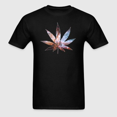 Cosmic Pot Leaf - Men's T-Shirt