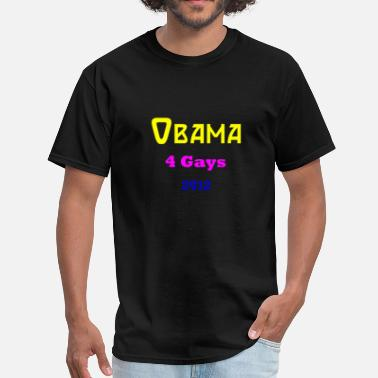 Obama Swag obama for gays 2012 - Men's T-Shirt