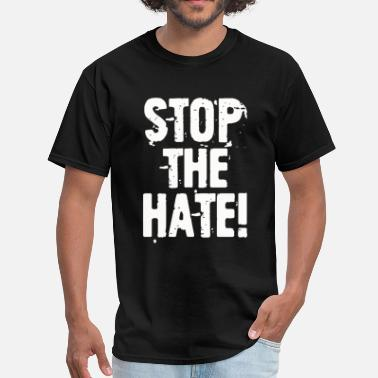 Hate Cartoon STOP THE HATE - Men's T-Shirt
