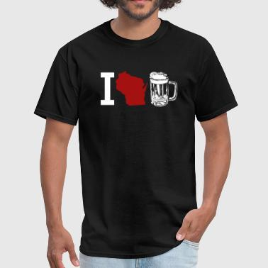 I LOVE WISCONSIN BEER - Men's T-Shirt