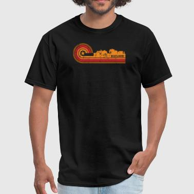 Wilkes-barre Retro Style Wilkes-Barre Pennsylvania Skyline - Men's T-Shirt